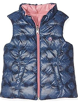 United Colors of Benetton Waistcoat, Veste sans Manche Fille, Bleu (Navy), ddbda1944c29