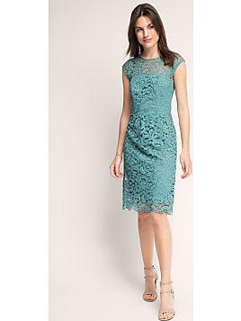 Kleid aus spitze mit effektrucken esprit