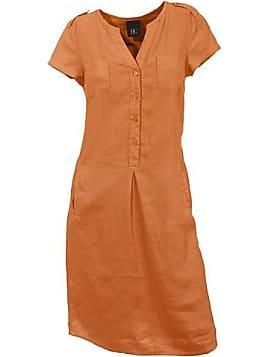 Leinenkleid orange