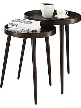 Benson Nesting Tables   Set Of 2   Set Of 2 Cappuccino