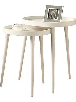 Benson Nesting Tables   Set Of 2   Set Of 2 White