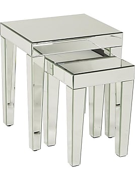 Zia Nesting Tables   Set Of 2   Nesting Tables Silver