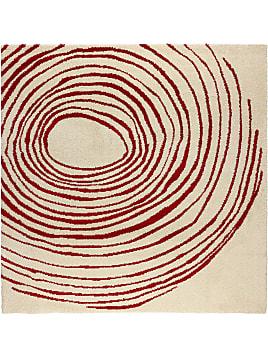 Eivor Cirkel Teppich Langflor Weiß