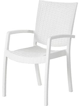 INNAMO, Armlehnstuhl/außen, Weiß