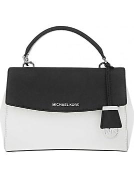 9f418e227c45 Tasche - Ava Small Tophandle Satchel White Black - in weiß, schwarz -  Umhängetasche