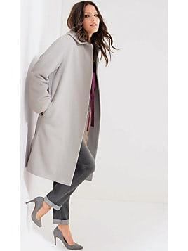Manteau long laine femme bleu marine