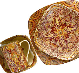 222 Fifth Spice Road Terracotta 16 Piece Dinnerware Set - 1127TR804A1G97