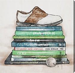 Hatcher & Ethan Golf Books Canvas Wall Art - HE12446_43X43_CANV_XXHD_HE