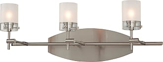 George Kovacs P5013-084 3 Light Bath in Brushed Nickel finish with Clear/Acid Etched Glass