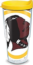 Trevis Tervis 1085262 NFL Washington Redskins Colossal Tumbler with Wrap and Yellow Lid 24oz, Clear