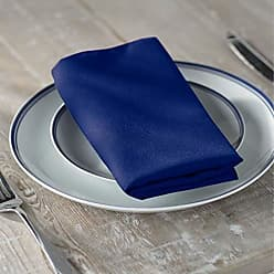 LA Linen 10-Pack Polyester Poplin Napkins 17 by 17-Inch, Royal Blue