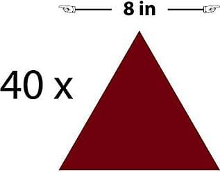 The Decal Guru Triangle Pattern Wall Decal (Burgundy, 8 (H) X 8 (W))