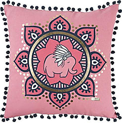 Rizzy Home Elephant Decorative Filled Pillow, 18 x 18, Pink