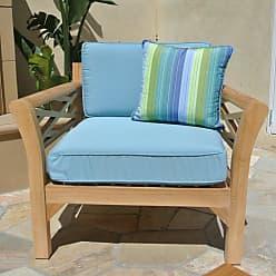 Willow Creek Designs Outdoor Willow Creek Designs Monterey Teak Club Chair with Sunbrella Cushion Canvas Heather Beige - WC-8-5422