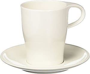 Villeroy & Boch Coffee Passion Coffee Mug & Saucer Set by Villeroy & Boch - Premium Porcelain - Made in Germany - Dishwasher and Microwave Safe - 13 Ounce Capacity