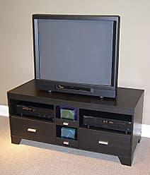 4D Concepts Large TV Stand, Black Wood Grain