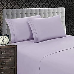Elegant Comfort 1500 Thread Count Wrinkle & Fade Resistant 5-Piece Egyptian Quality Softness Bed Sheet Set, Deep Pocket Up to 16inch Split King Lilac