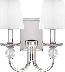 Metropolitan Aise 2-Lt Wall Sconce in Polished Nickel