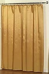 Ben&Jonah Ben & Jonah Lauren Dobby Fabric Shower Curtain, 100% Polyester, Size 70X72, Color Gold Splash Collection by Ben&Jonah