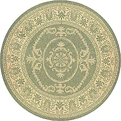 Couristan Couristan 1078/1812 Recife Antique Medallion/Green-Natural 7-Feet 6-Inch Round Rug