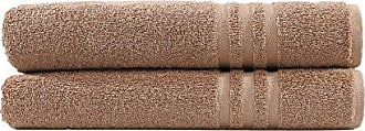 Linum Home Textiles 100% Turkish Cotton Denzi Bath Towels, Set of 2, Brown