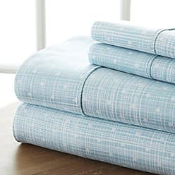 iEnjoy Home 4 Piece Sheet Set Polkadot Patterned, Full, Aqua