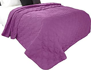Trademark Global Solid Color Quilt by Lavish Home Full/Queen - Purple