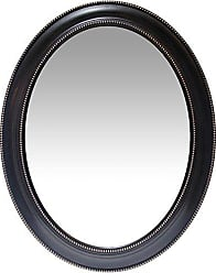 Infinity Instruments Classic Oval Mirror, Black