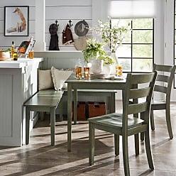 Weston Home Lexington 5 Piece Breakfast Nook Rectangular Dining Set - Dark Sea Green - 68E55748AQ5NKC4