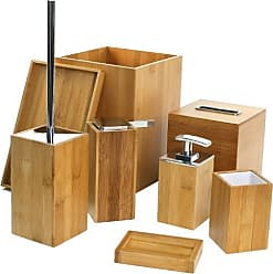 Nameek's Gedy PO8001-35 Potus Wooden Bathroom Accessory Set Natural/Bamboo