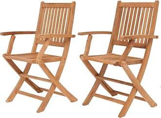 Ashley Furniture Yogya Folding Arm Chair (Set of 2), Brown