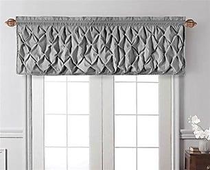 VCNY Home Carmen Tailored Window Valance, Window Treatment, 60 x20, Gray