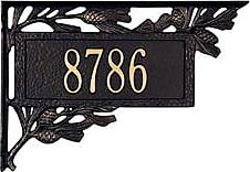 Whitehall Personalized Pine Cone 2-Sided Mailbox Address Marker, in Black