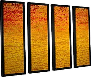 ArtWall Charlie Bairds About 2500 Tigers, 2008, 4 Piece Floater Framed Canvas Set, 36 x 48