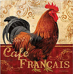 Thirstystone 4-Piece Cafe Francis Rooster Coaster Set