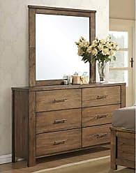 Progressive Furniture B104-23 Brayden Drawer Dresser, 60 x 17 x 36, Brown