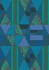 Milliken Carpet Milliken 4000032078 Pastiche Collection Valencia Area Rug, Cabana Blue, 78 x 109 Oval