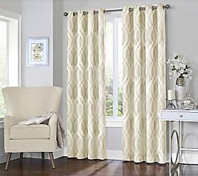 Ellery Homestyles KOZDIKO Eclipse Caprese 52 x 95 Insulated Darkening Single Panel Grommet Top Window Treatment Living Room, 52x95, Ivory