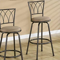 Coaster 29 Metal Bar Stools with Upholstered Seat Brown and Bronze (Set of 2)