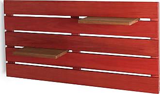 Mão & Formão Deck de Parede Horizontal - VermelhoVermelho