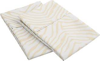Superior 1800 Series 100% Brushed Microfiber, Wrinkle Resistant 2-Piece King Pillowcase Set, Animal Print, Ivory