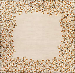 Surya Athena ATH-5118 Hand Tufted Wool Square Solids and Borders Area Rug, 6-Feet