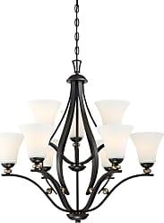 Minka Lavery Shadowglen 9-Light Chandelier in Lathan Bronze W/ Gold