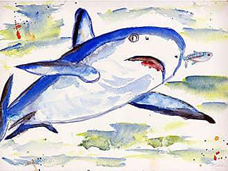Betsy Drake DM213G Sharks Door Mat 30 x50