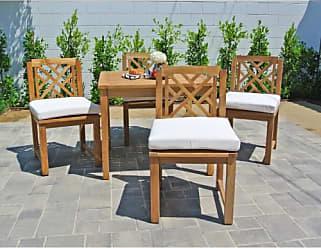 Willow Creek Designs Monterey 5 Piece Teak Patio Dining Set