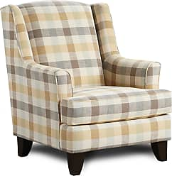 Overstock Blake Oxford Plaid Traditional Accent Chair