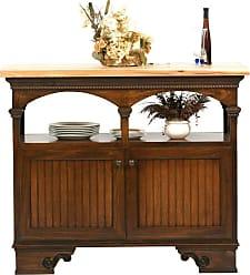 Eagle Furniture American Premiere Customizable Kitchen Island - Block Foot Butcher Block - 15045WPAS