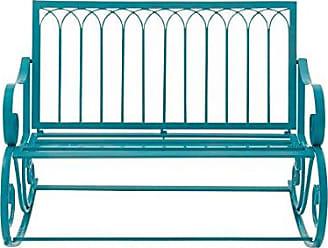 Deco 79 29071 Metal Rocking Bench, 49 x 37