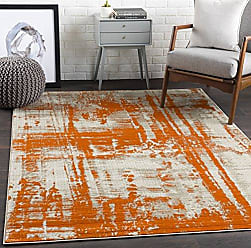 Surya Carlotta Orange Modern Area Rug 52 x 76