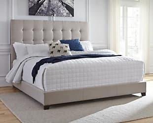 Ashley Furniture Dolante King Upholstered Bed, Beige